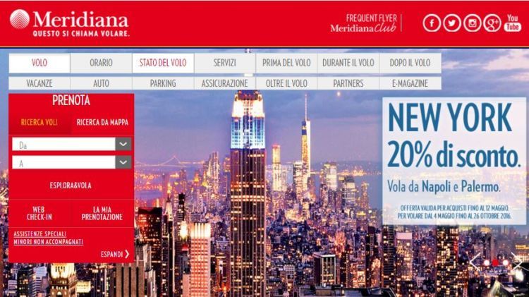 meridiana sconto new york